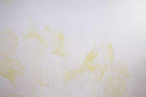 Nebulosa  Instal·lació,  560 x 340 x 170 cm en aquesta exposició, Fil polímer i pintura, 2016