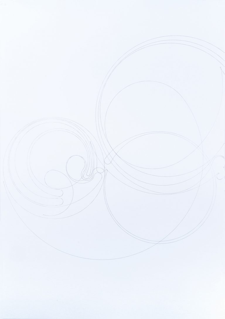 Doble ocaso  Plóter, bolígraf sobre paper, Peça única més prova d'artista, 2019